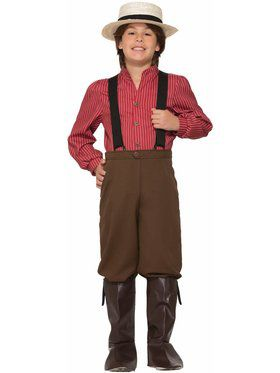 Child Boy Pioneer Costume
