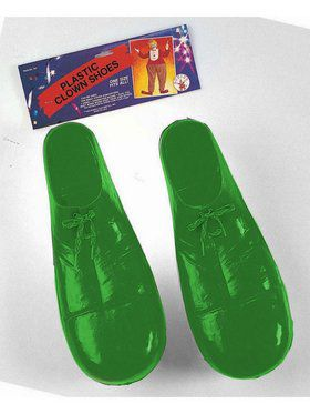 Green Plastic Clown Shoes for Child