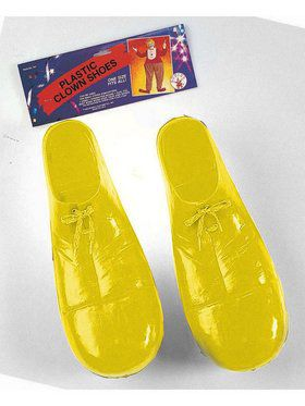 Yellow Plastic Clown Shoes for Child