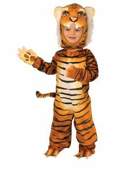 Plush Child Orange Tiger Costume
