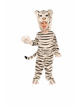 Plush Child White Tiger Costume