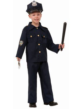 Boy Police Child Costume