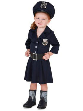 Classic Police Girl Child Costume