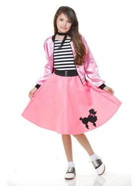 Child Poodle Dress - Bubble Gum