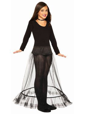 Princess Length Child Crinoline Black