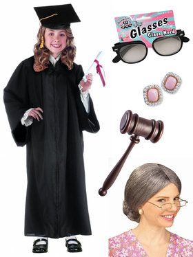 Child RBG Supreme Judge Costume Kit