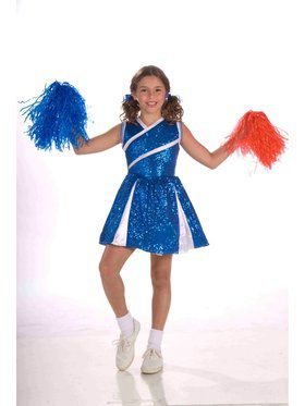 Blue Child Sassy Cheerleader Costume