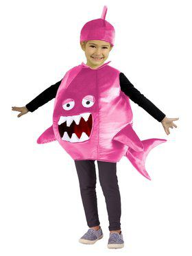 Feed Me Shark Child Pink Costume