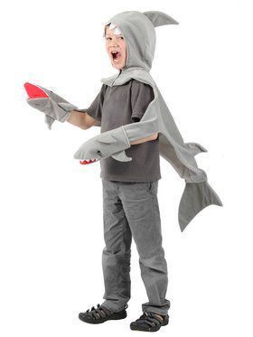 Shark Hood Shawl Child Costume