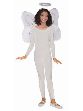 Unitard Child White Costume