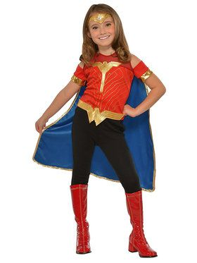Kid's Wonder Woman Top Costume