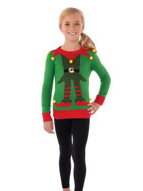 Green Elf Sweater for Kids