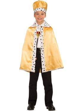 Childrens Gold Royal Cape