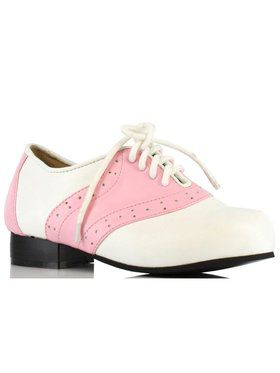 Children's Pink and White Saddle Shoe