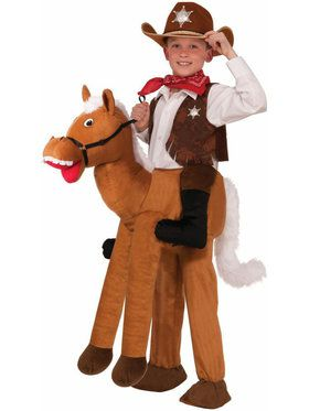 Childrens Ride On Horse Boys Costume