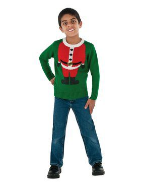 Children's Santa Christmas Sweater Boy's Costume