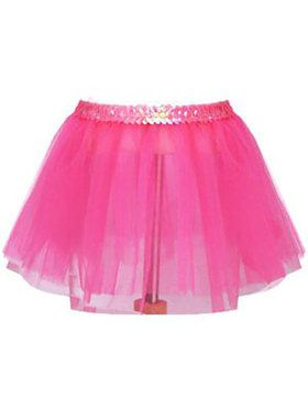 Children's Sequin Band Pink Tutu