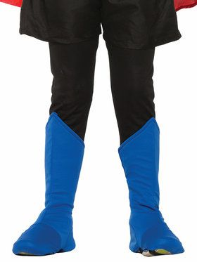 Children's Superhero Boot Covers Blue