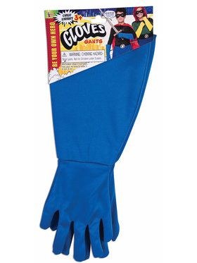 Children's Superhero Gauntlets Blue