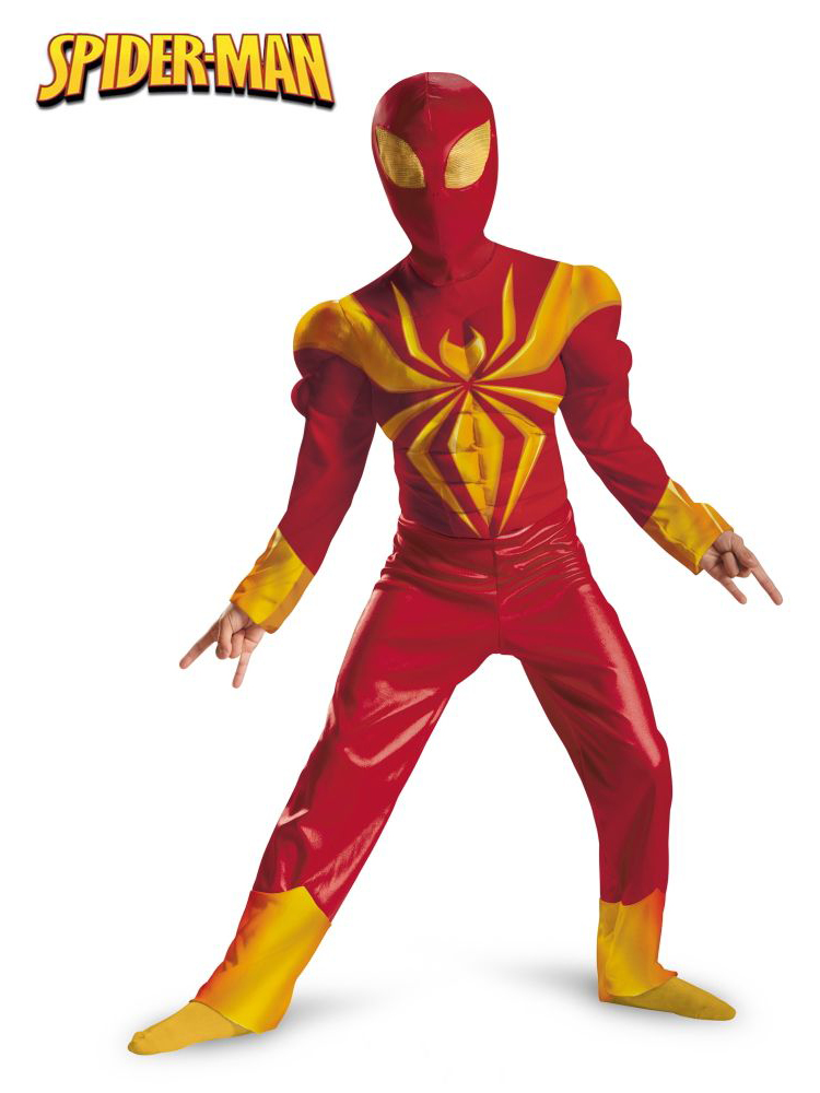 Ultimate Iron Spider-Man Spiderman Classic Muscle Child Costume DI57722-M