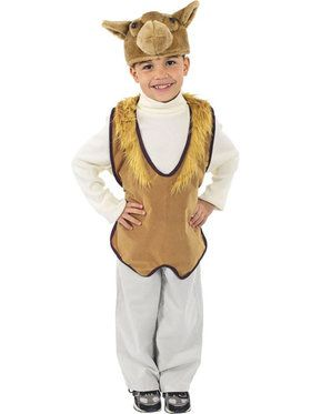 Child's Camel Nativity Vest and Hat Set