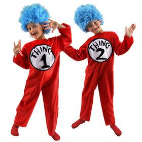 Childs Deluxe Dr. Seuss Thing 1 Or 2 Costume