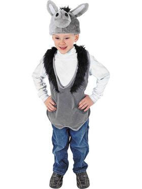 Child's Donkey Nativity Vest and Hat Set