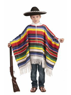 Childs Mexican Poncho Costume