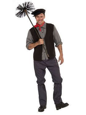 Chimney Sweep - Medium Adult Costume