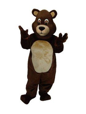 Chocolate Teddy Bear Mascot Adult's Mascot Costume
