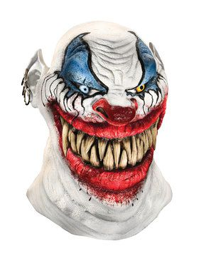 Mens Evil Chopper Clown Latex Mask