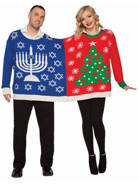 Christmas For Two Christmas/ Chanukah Sweater Adult