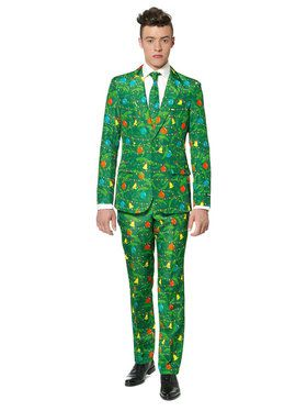 Christmas Green Tree Suitmeister Adult Costume