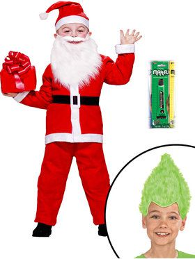 Kid's Vile Christmas Character Costume Kit