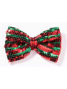Christmas Sequin Bow Tie Accessory