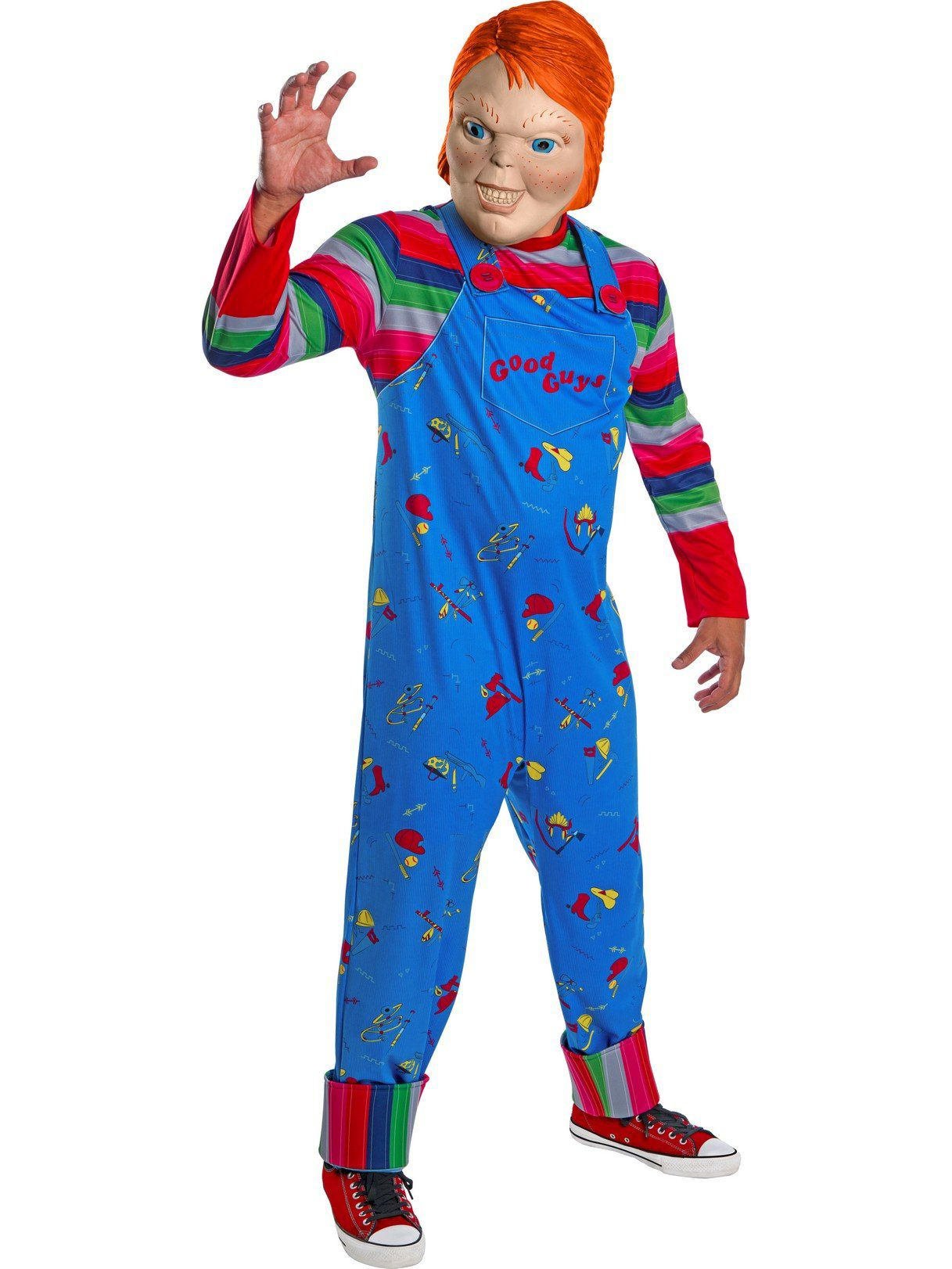 Chucky Femmes Halloween Horreur Costume Fancy Dress Party Outfit Adult Licensed