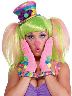 Circus Sweetie Gloves with Multi-Color Ruffles