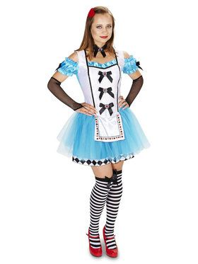 Classic Alice Adult with Thigh Highs, Glovelettes Hair Clip Costume