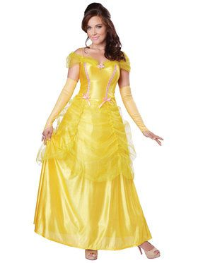 Adult Beauty Yellow Dress Costume For Adults