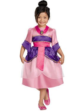 Classic Mulan Sparkle Childrens Costume