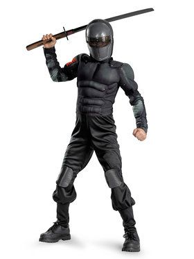 Classic Muscle G.I. Joe Snake Eyes Child Costume