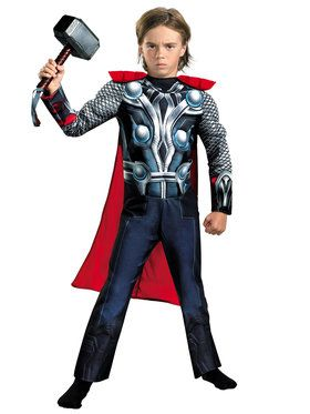 Classic Muscle Thor Avengers Boys Costume