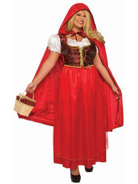 Adult Classic Red Riding Hood Plus Size Costume