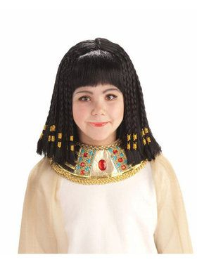 Cleopatra Princess of Egypt Wig Child