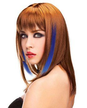 Clip-in Hair Blue Extensions