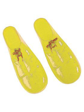Plastic Yellow Clown Shoes