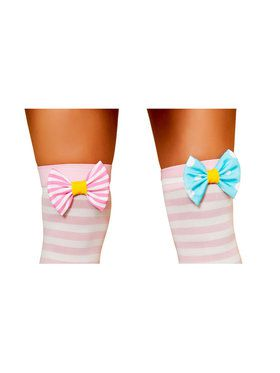 Clown Stocking Bows Adult