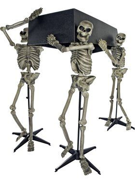 Coffin and Skeleton Set