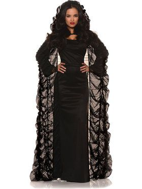 Coffin Cape Black Women's Costume