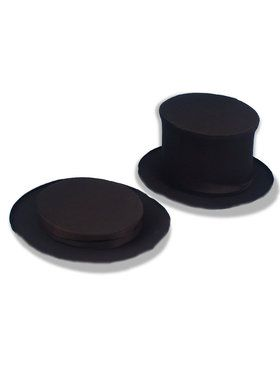 Collapsible Top Hat Black For Adults